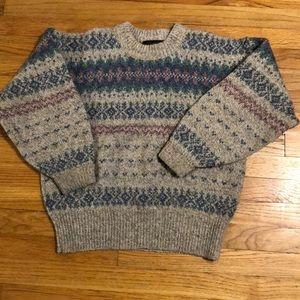 Eddie Bauer wool sweater.